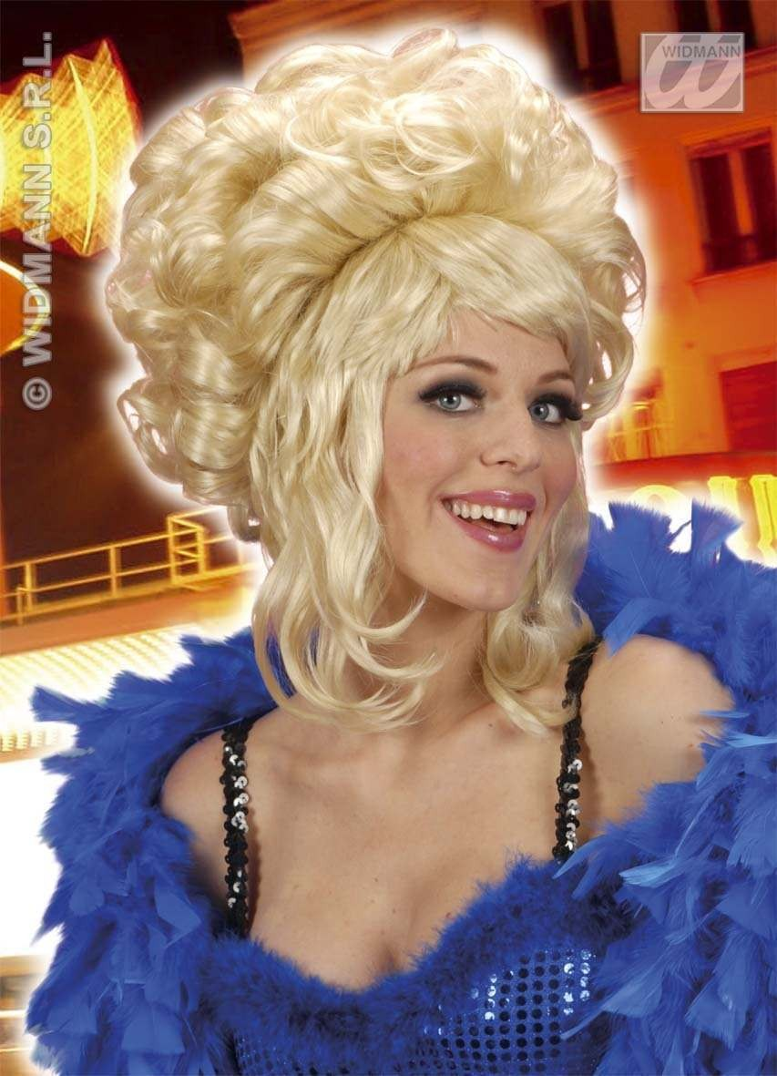 Patricia Wig High Curls Blonde - Fancy Dress