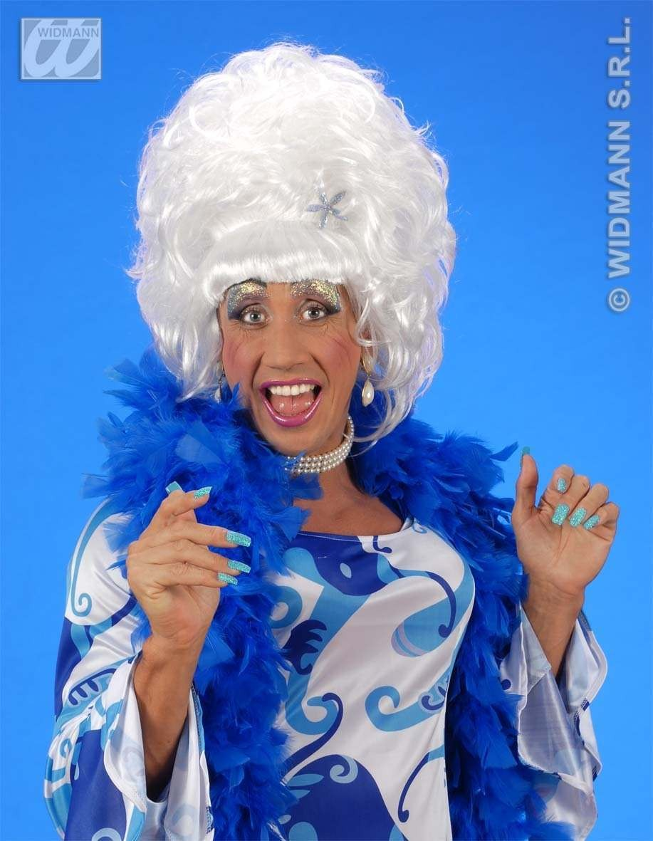 Drag Queen Wig White - Fancy Dress (Royalty)