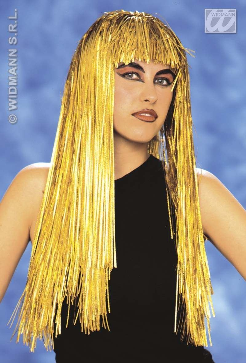 Gold Laser Girl Wig Fancy Dress