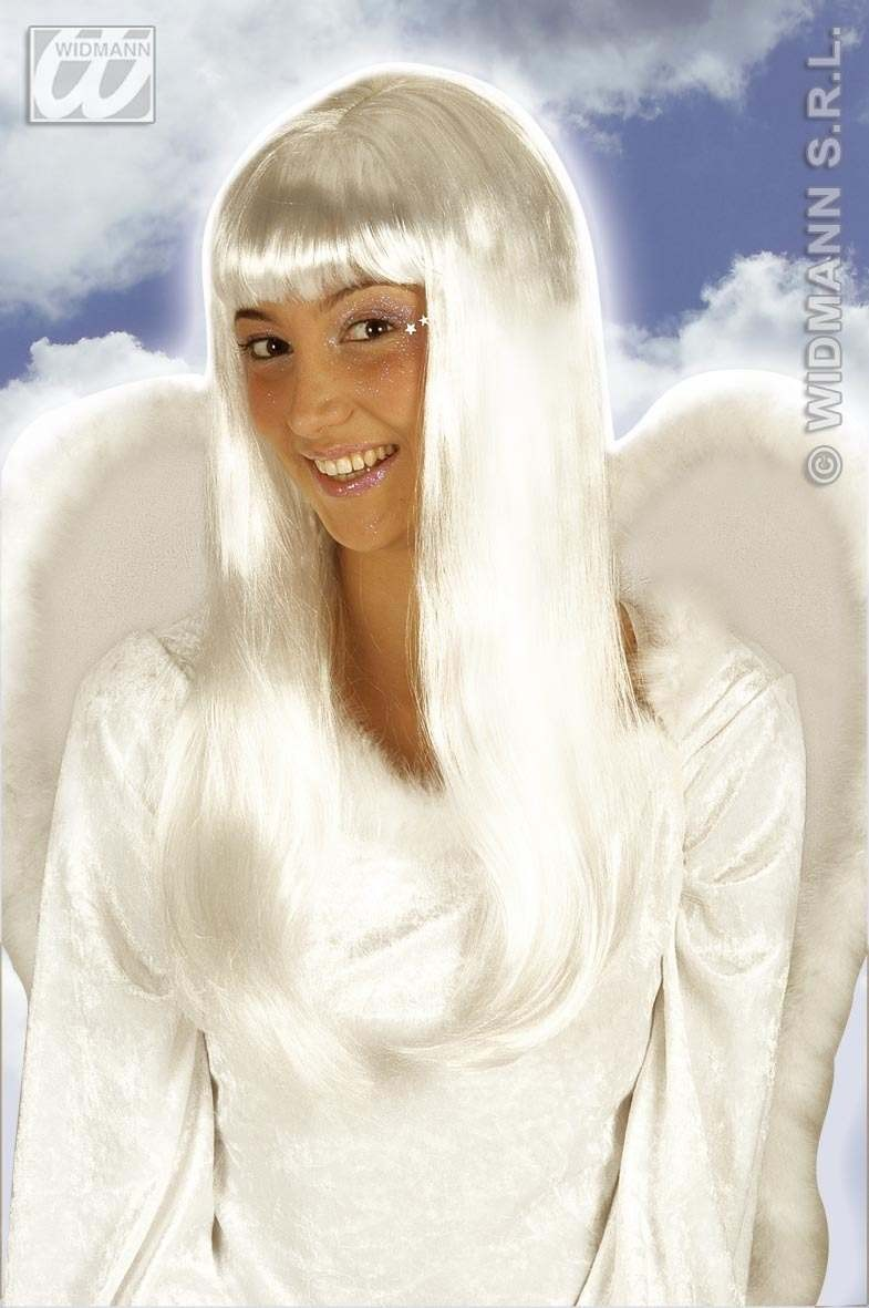 Angel Wig White - Fancy Dress (Christmas)
