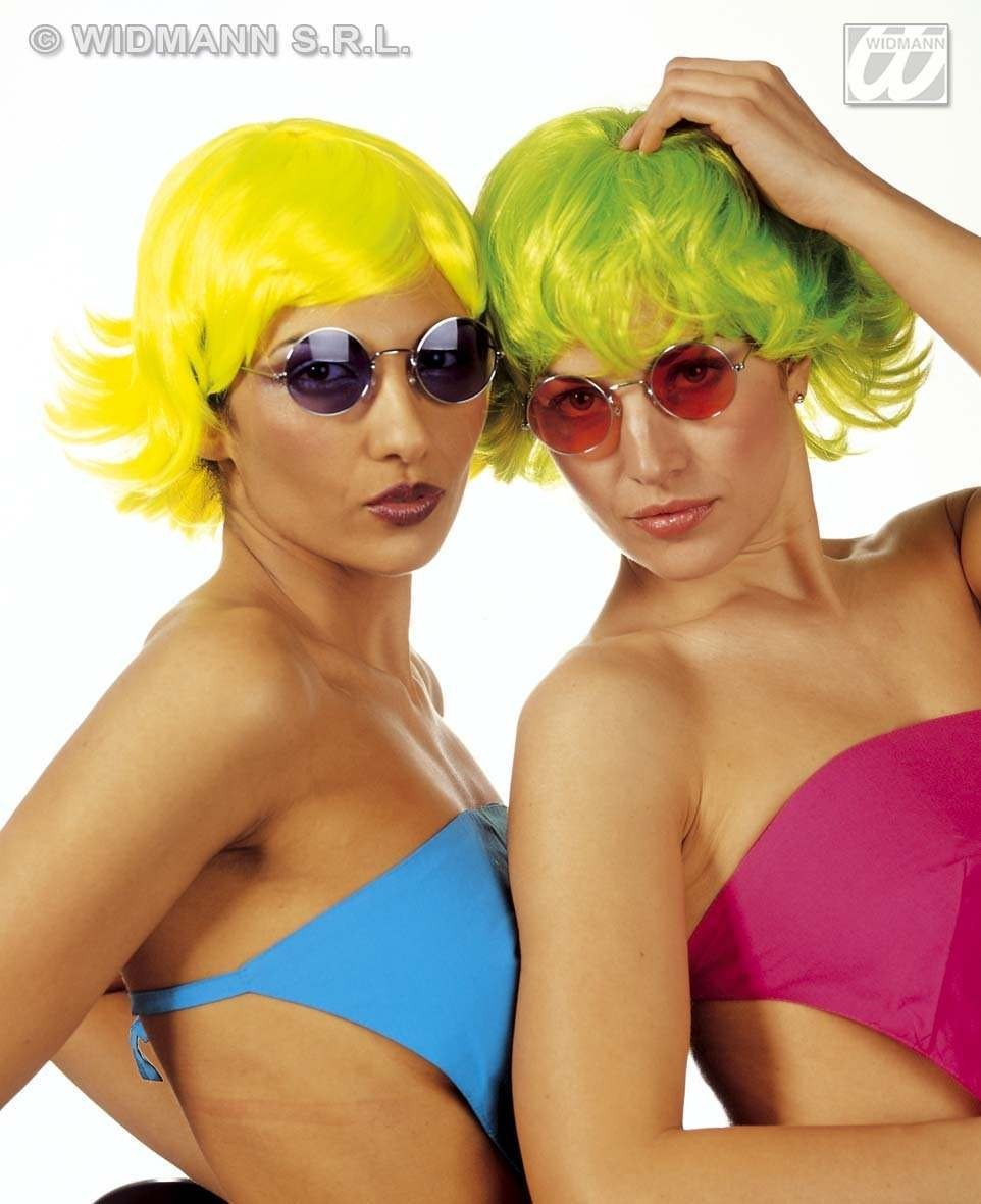 Neon Gin Fizz Wig - 4Cols - Fancy Dress