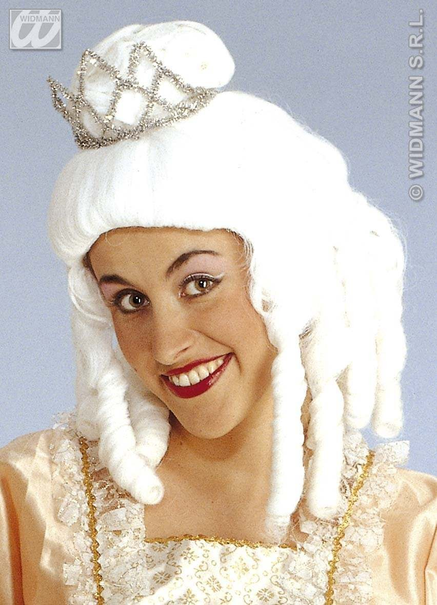 Princess Colonial Wig W/Tiara - Fancy Dress (Royalty)