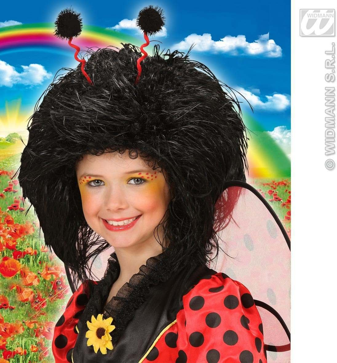Child Black Character Wig In Polybag - Fancy Dress