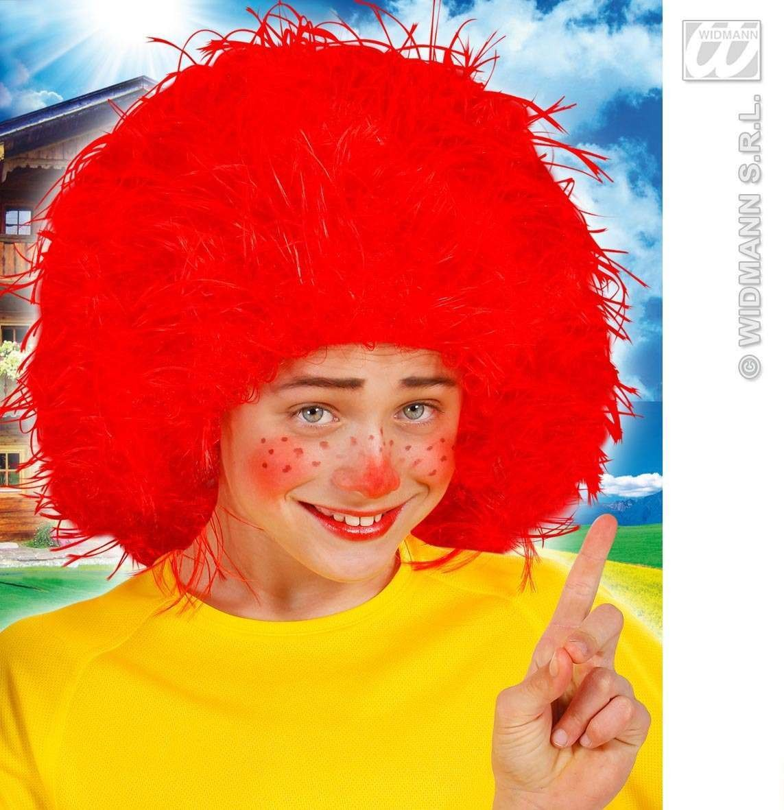 Child Red Character Wig In Polybag - Fancy Dress