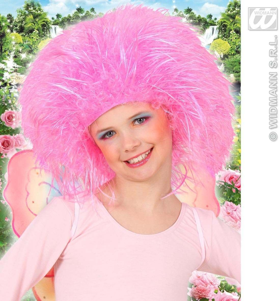 Child Neon Fairy Wig - Pink - Fancy Dress Ladies (Fairy Tales)