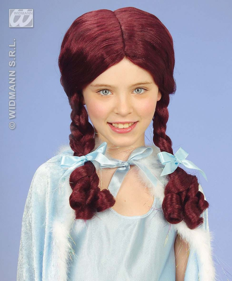 Alice Wig W/Plaits And Ribbons - Fancy Dress