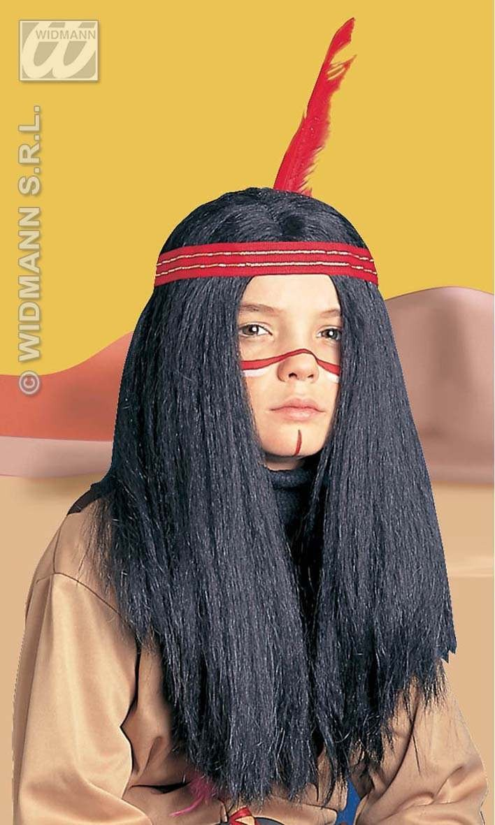 Wig Indian Boy/Girl - Fancy Dress (Cowboys/Indians)