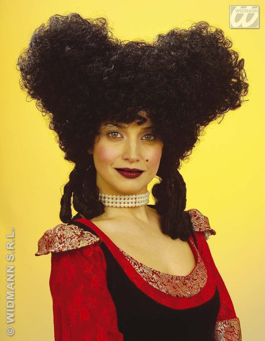 Baroque Noblewoman Wig Black - Fancy Dress Ladies