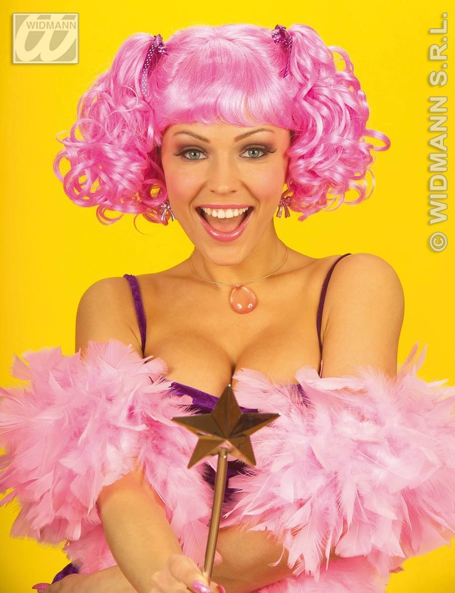 Pixie Wig 3Cols Bl/Pink/Pple - Fancy Dress
