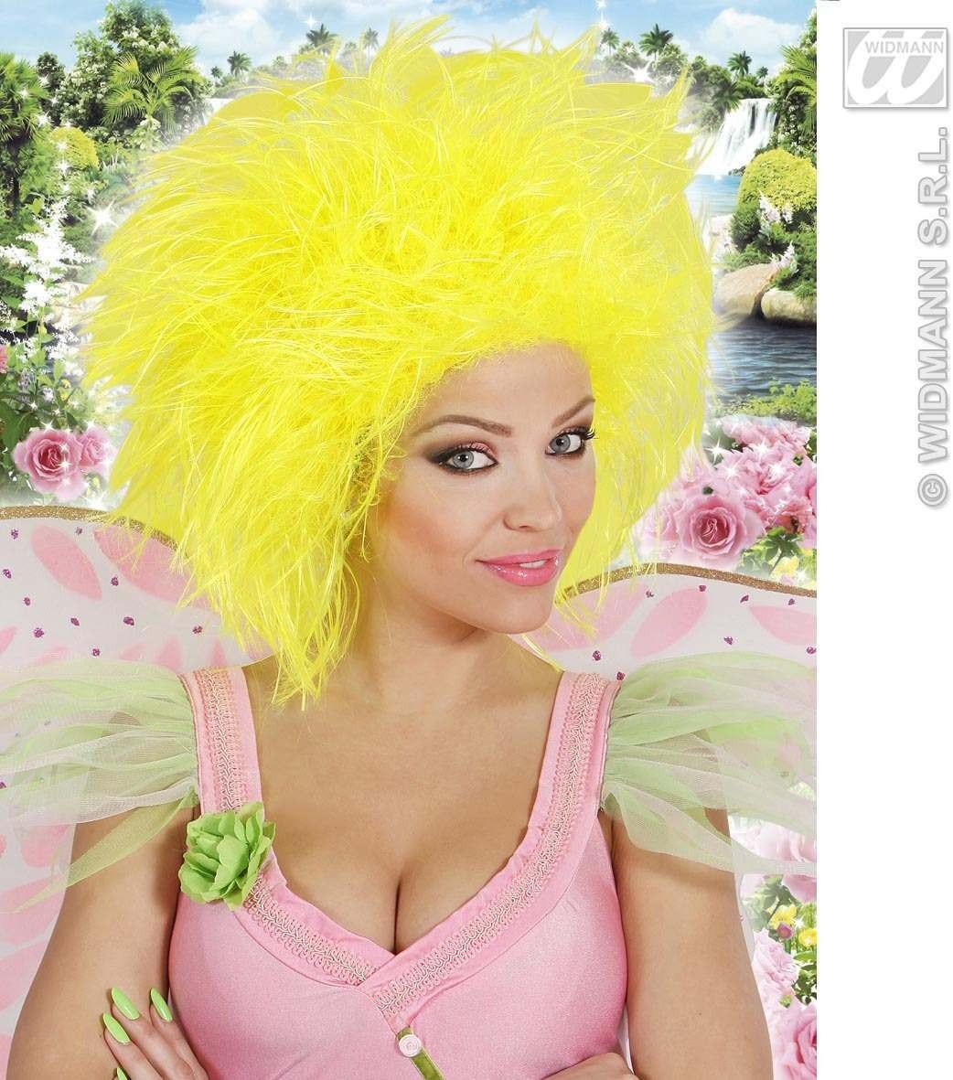 Fairy Wig In Polybag - Neon Yellow - Fancy Dress (Fairy Tales)