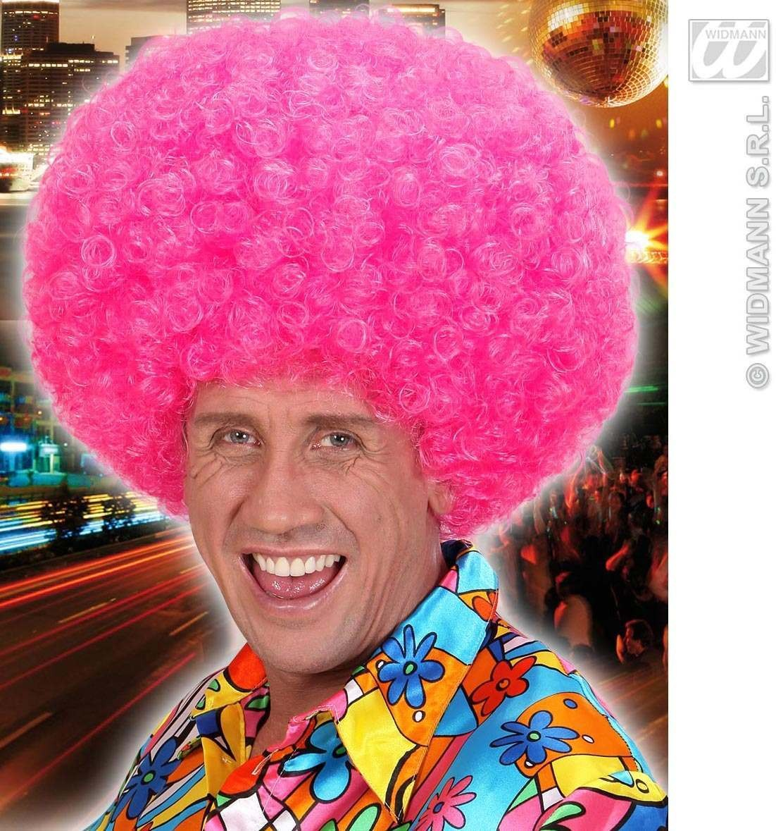 Jimmy Wig In Polybag - Neon Pink - Fancy Dress