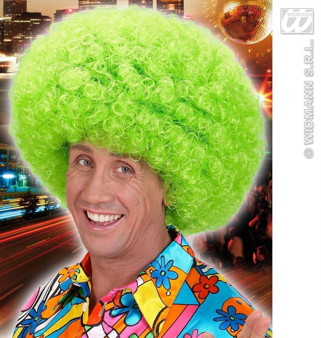 Jimmy Wig In Polybag - Neon Green - Fancy Dress