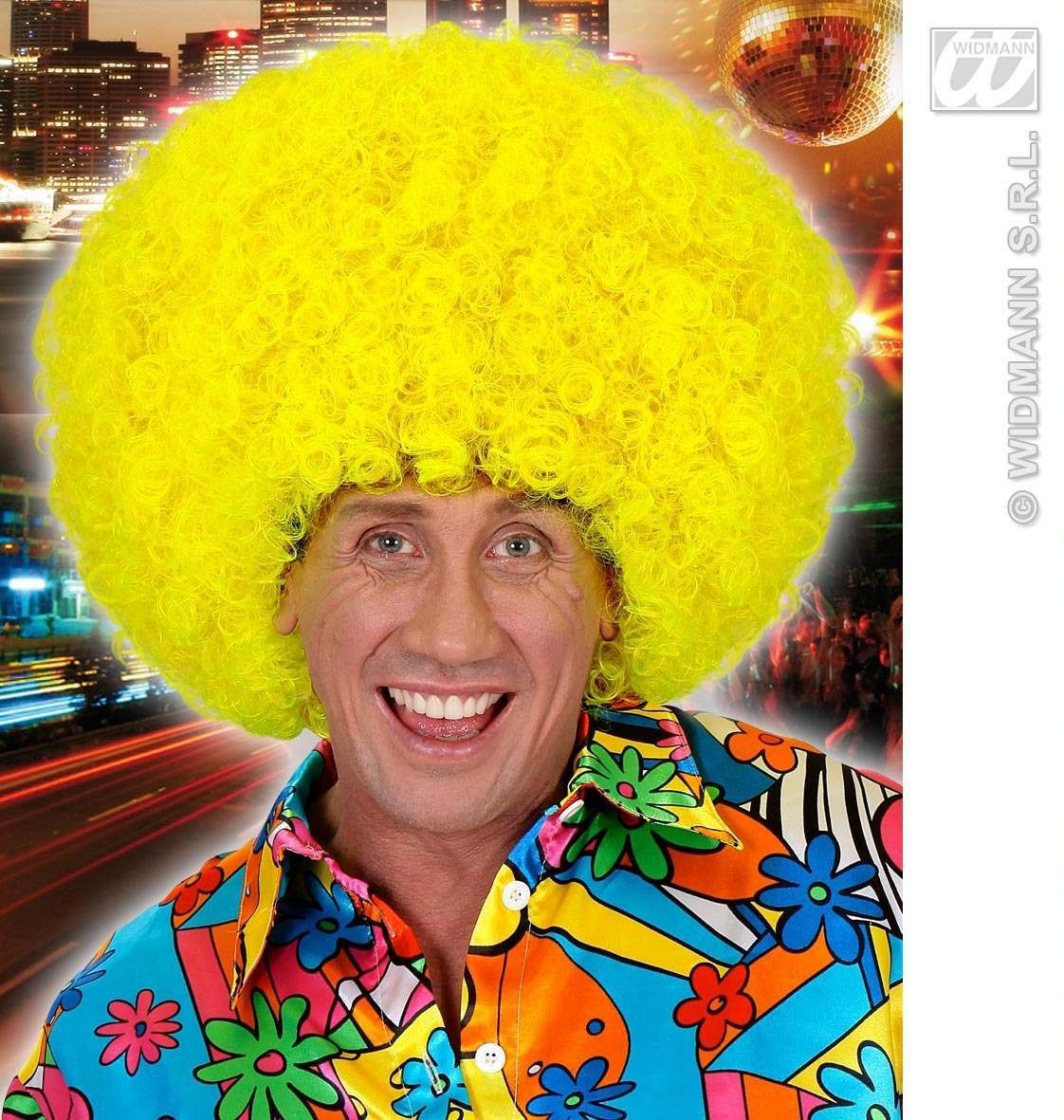 Jimmy Wig In Polybag - Neon Yellow - Fancy Dress