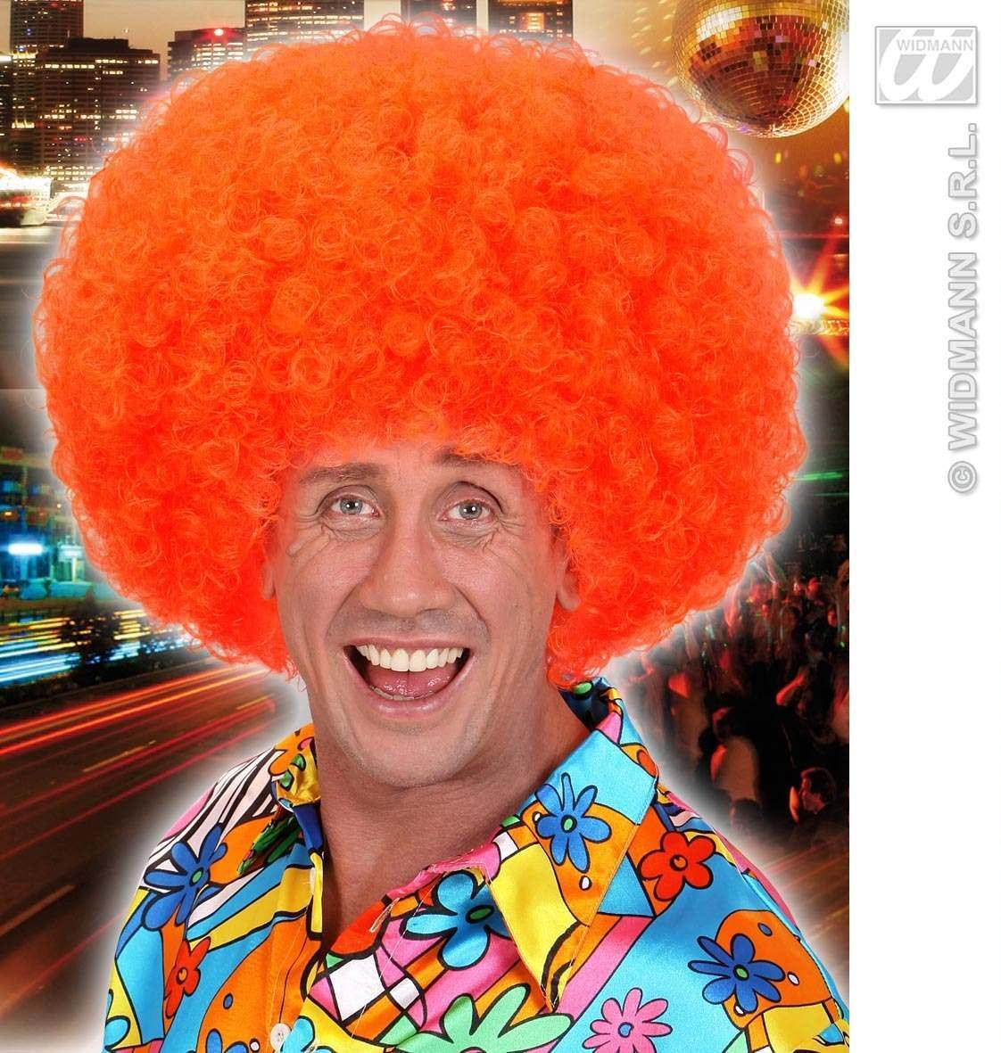 Jimmy Wig In Polybag - Neon Orange - Fancy Dress