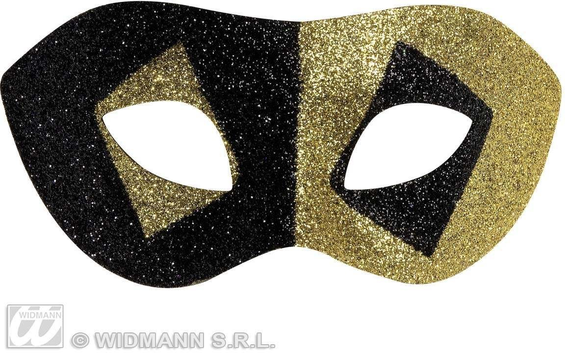 Masquerade Glitter Eyemasks 2 Color Ass. - Fancy Dress