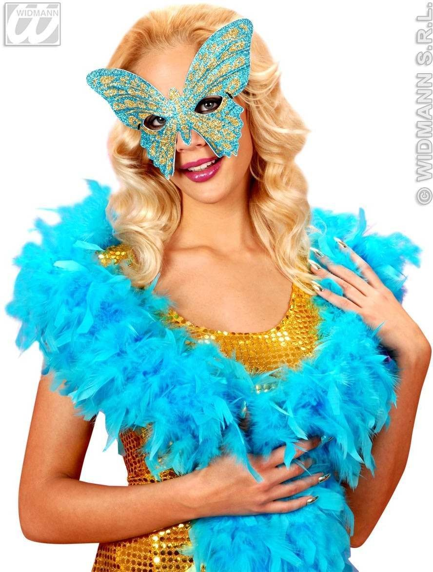 Eyemask Bicolor Glitter Butterfly 6 Asstd Fancy Dress