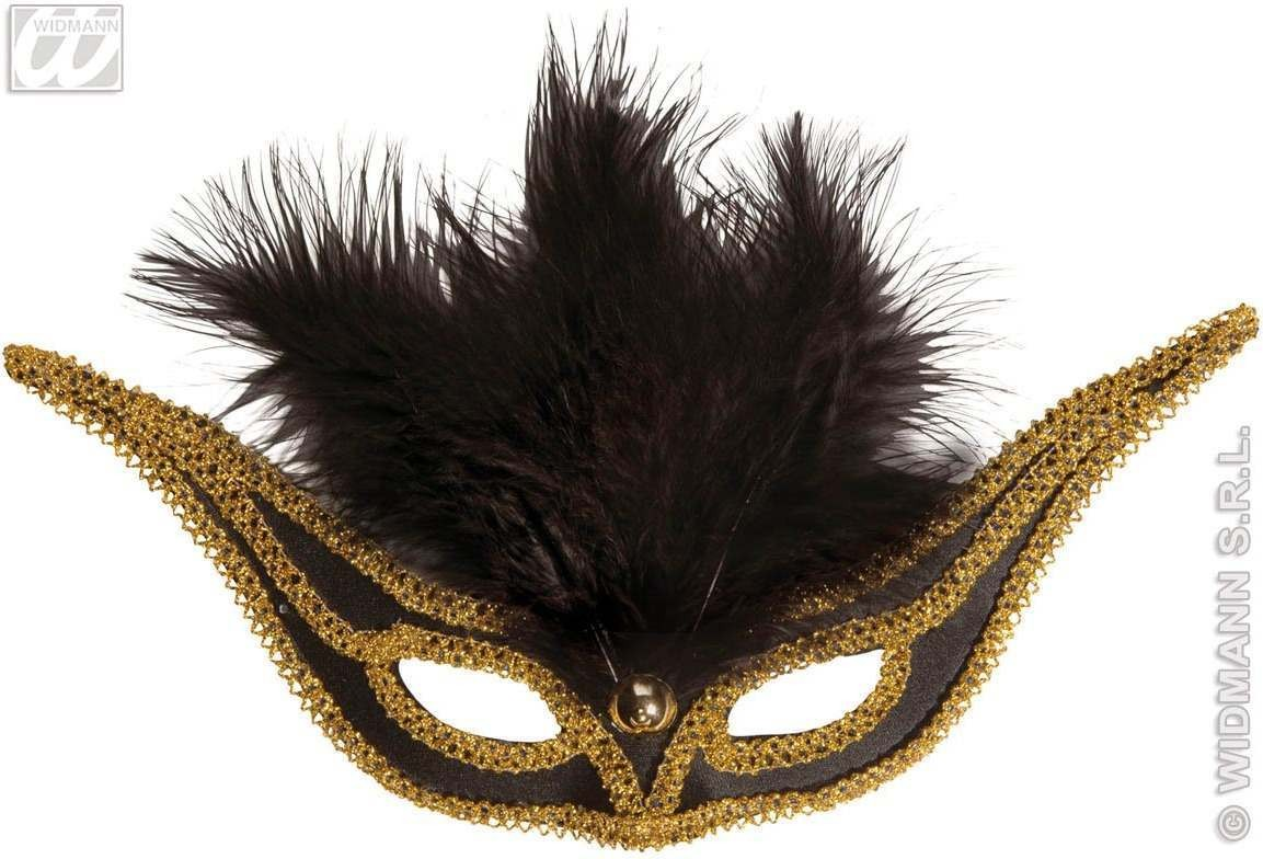 Eyemask Swallow W/Feathers - Fancy Dress