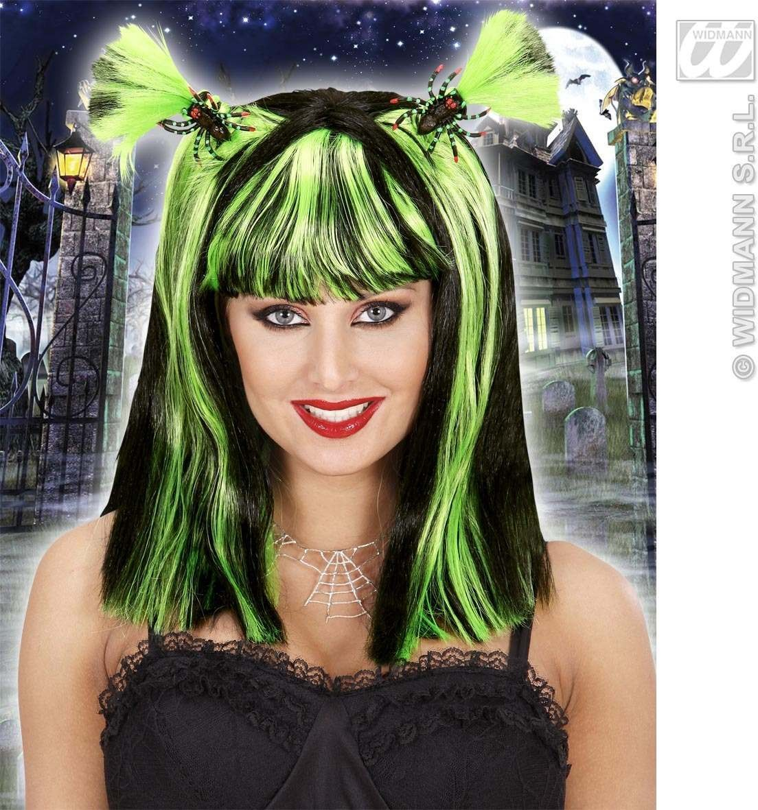 Halloween Wig & Spiders / Bats 4 Colors A, Fancy Dress (Halloween)