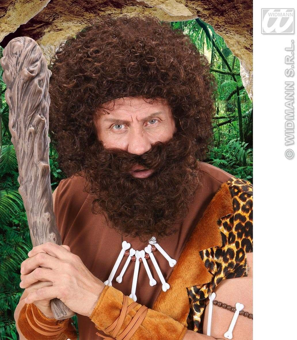 Character Curly Wig/Beard - Brown - Fancy Dress