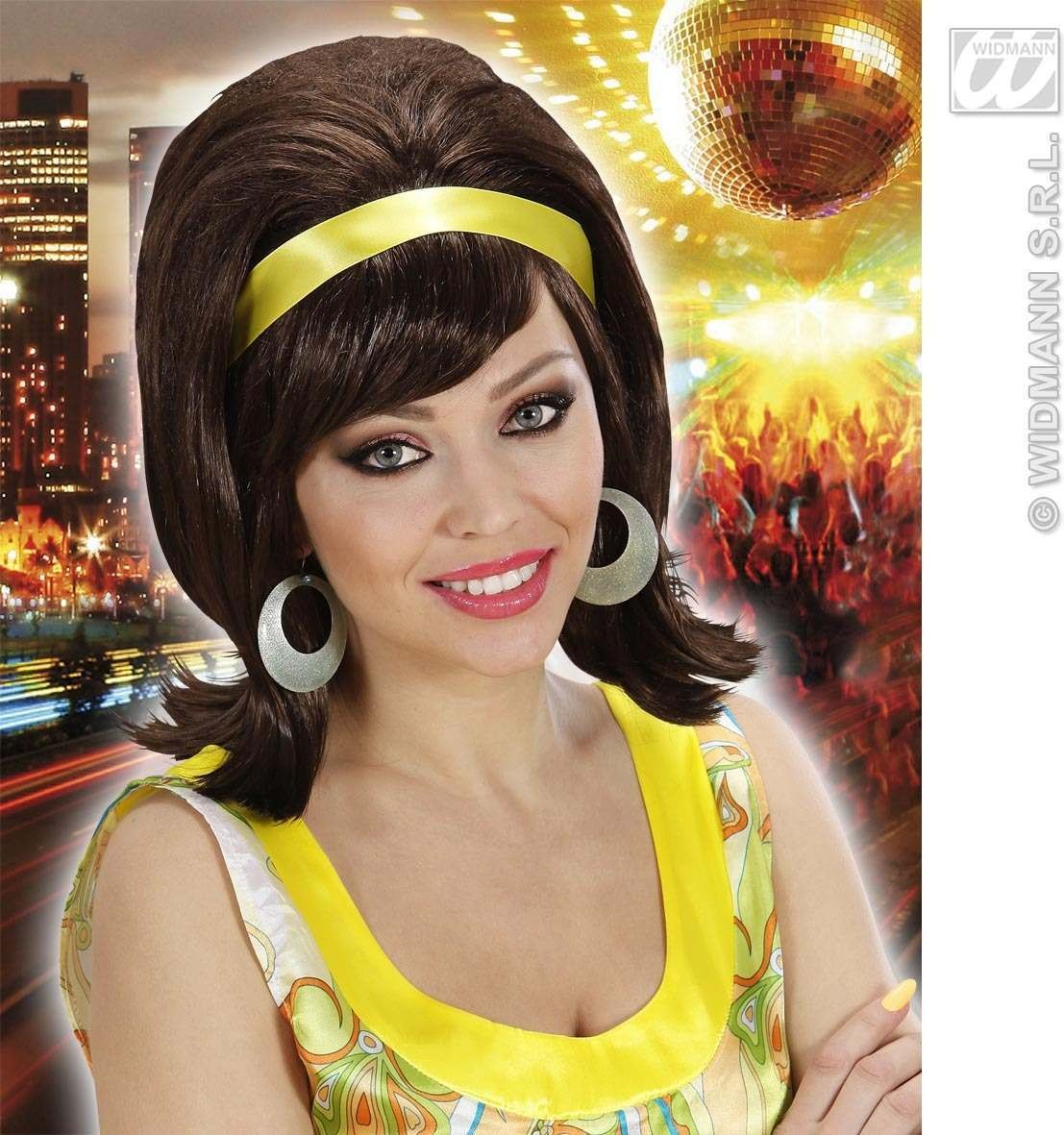 60S Mod Wig - Brown - Fancy Dress (1960S)
