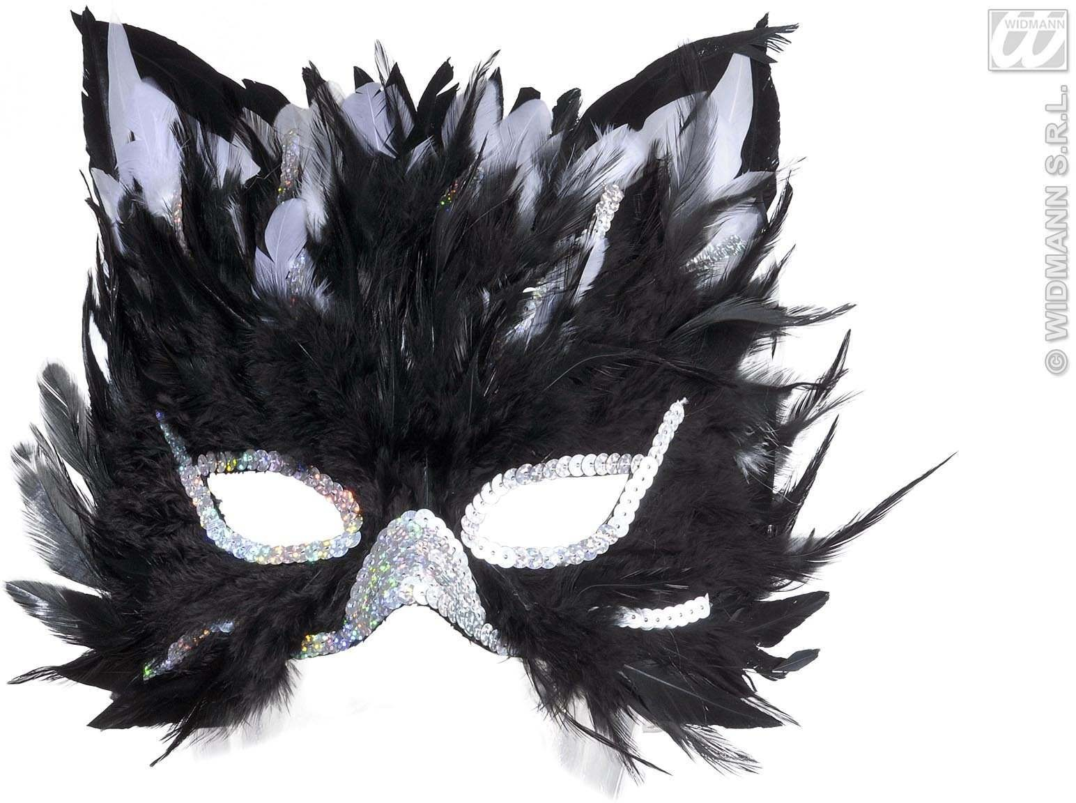 Feathered Cat Masks - Fancy Dress