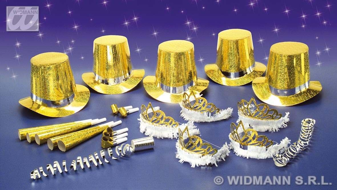 Las Vegas Party Kit 10 Person Gold - Fancy Dress