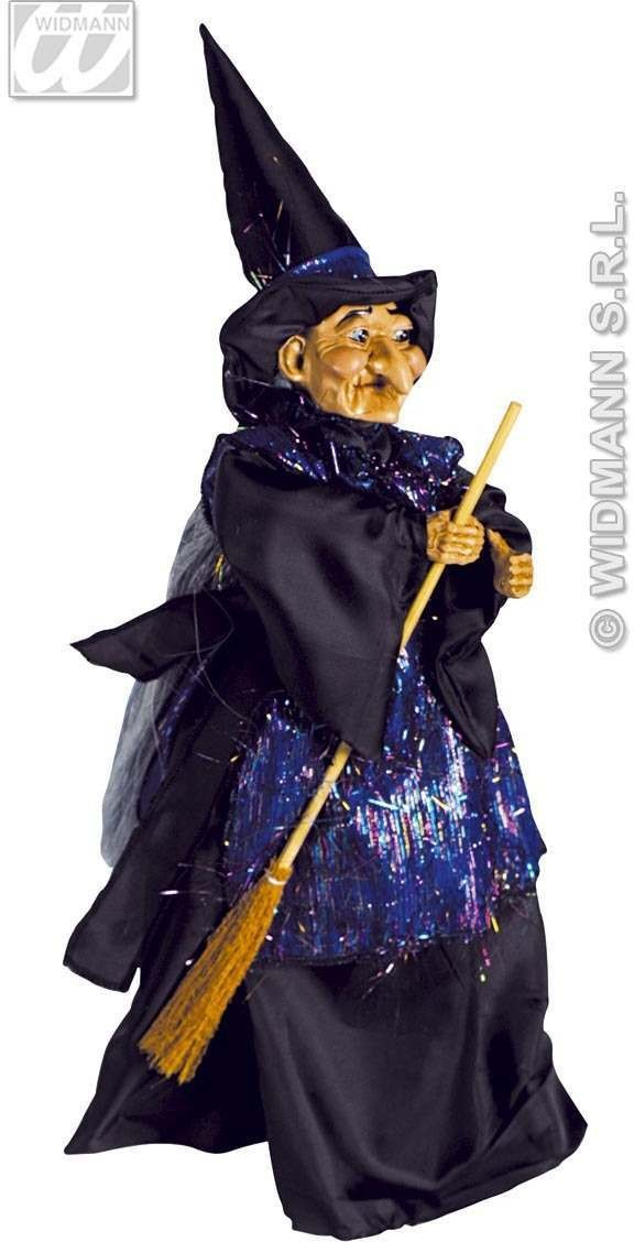 Standing Ceramic And Fabric Witches - Fancy Dress (Halloween)