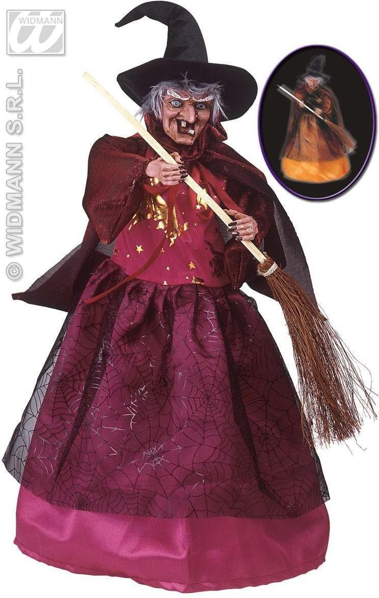 Animated Ceramic And Fabric Witches-3 St.As Fancy Dress (Halloween)