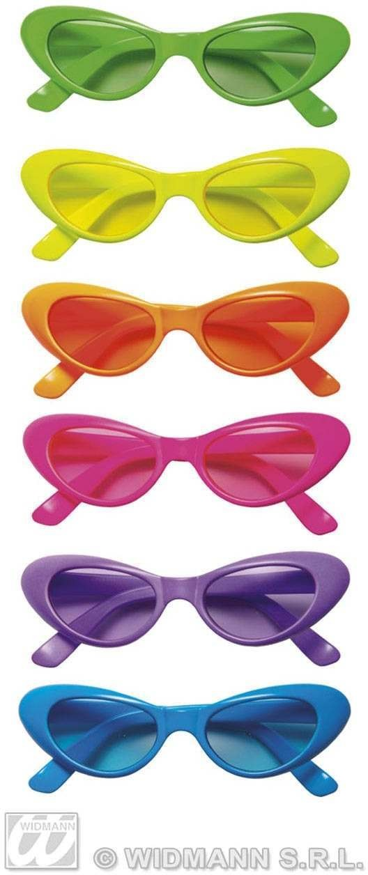 Neon Cat Eye Glasses - Fancy Dress