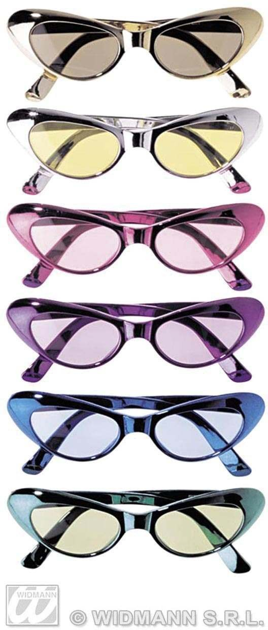 Metallic Cat Eye Glasses - Fancy Dress