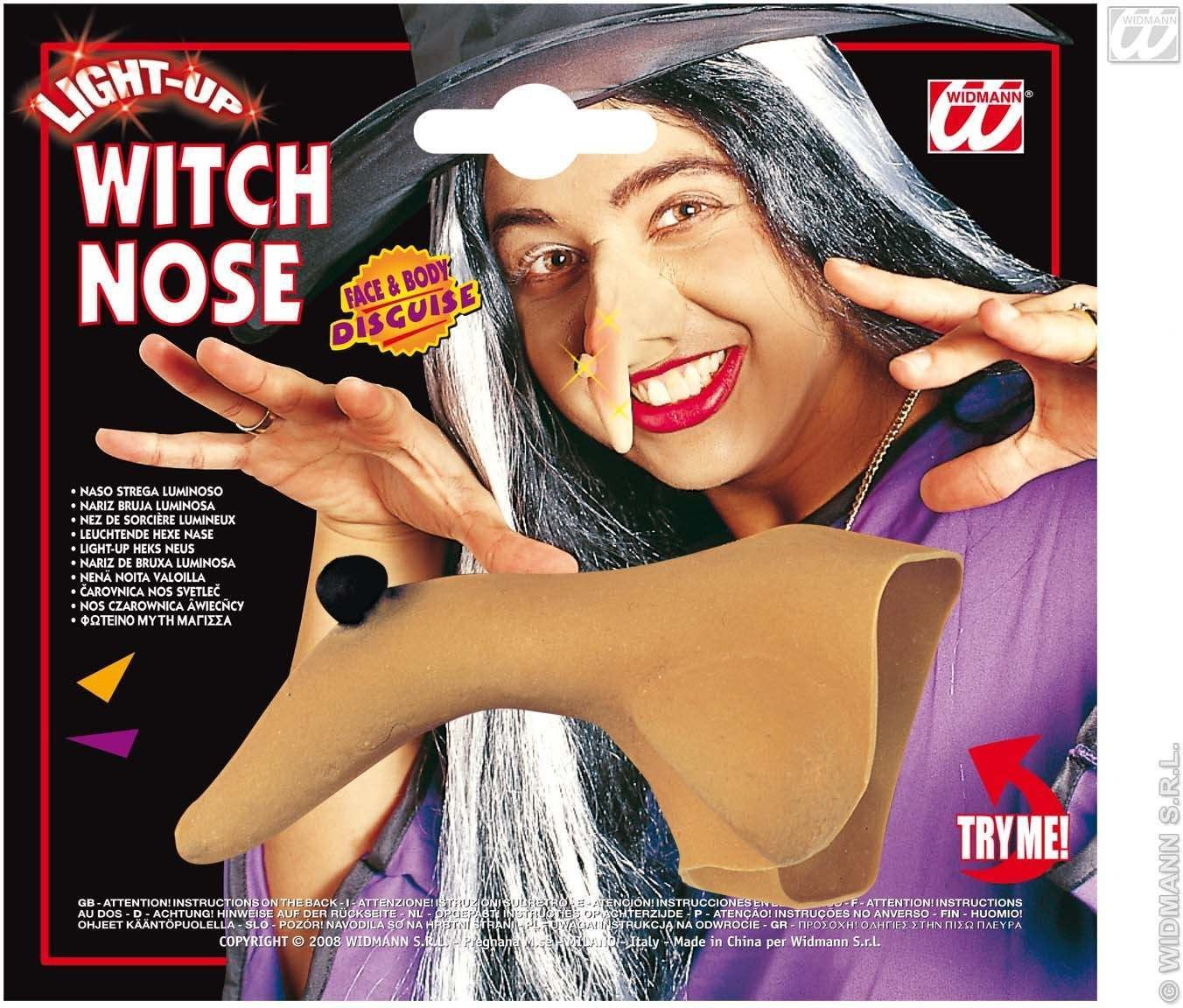 Flashing Light Witch Noses Fancy Dress (Halloween)