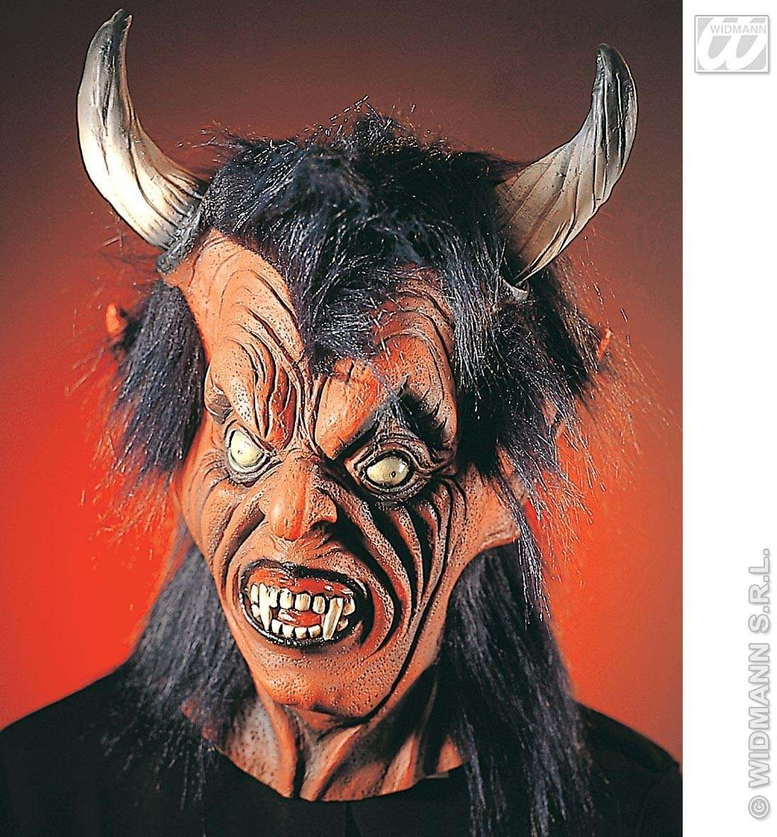 Oversized Devil Mask With Plush Hair - Fancy Dress (Halloween)