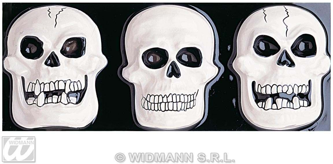 Gid 3D Skull Dec Horizontal - Fancy Dress (Halloween)