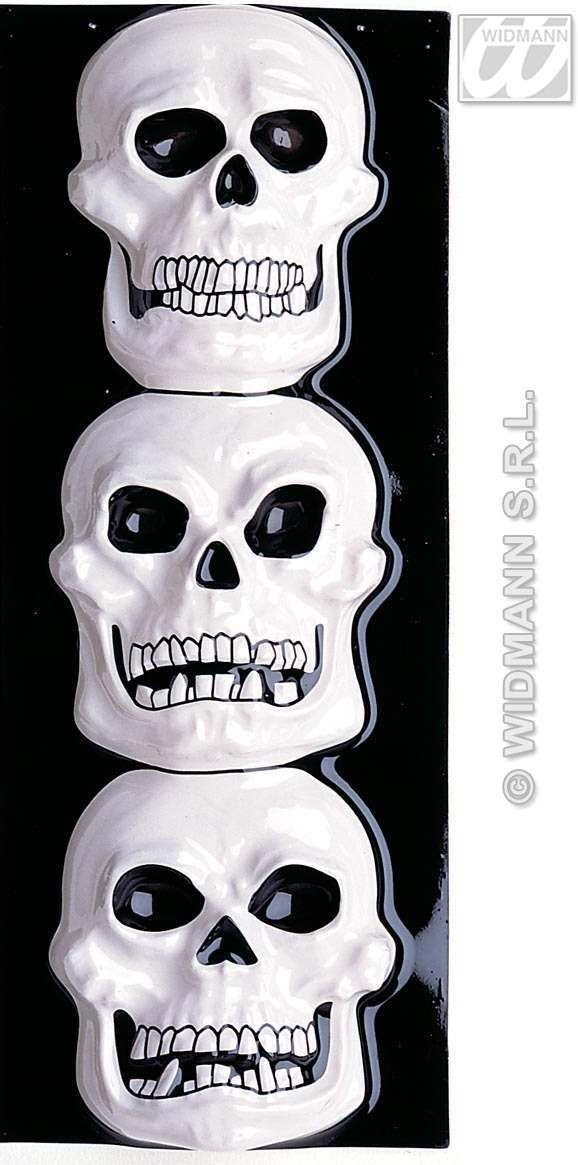 Gid 3D Skull Decoration Vertical - Fancy Dress (Halloween)