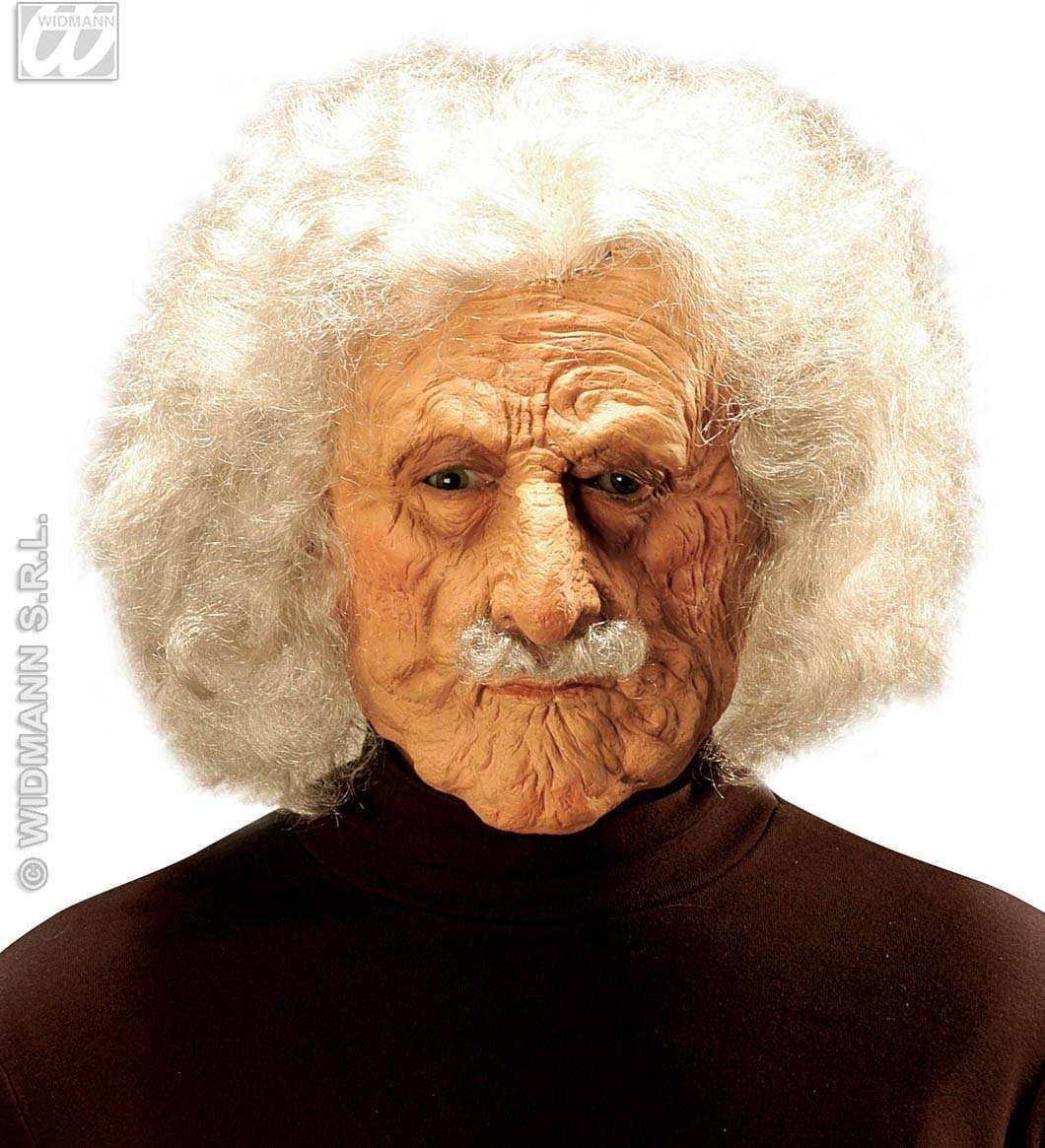 Old Man Albert Mask W/Wig And Moustache - Fancy Dress