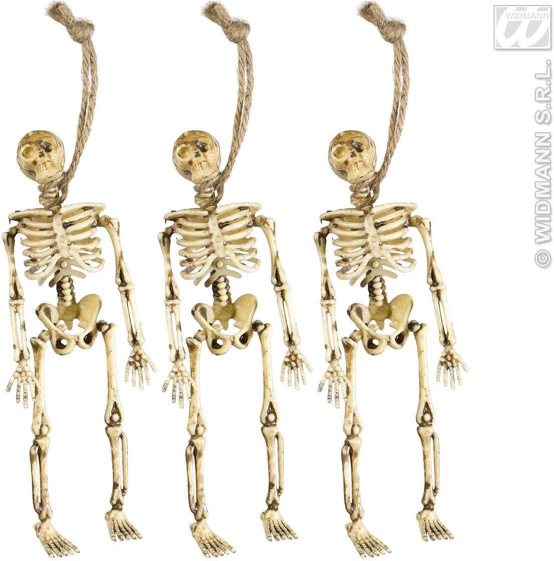 Set Of 3 Skeletons 15Cm - Fancy Dress (Halloween)