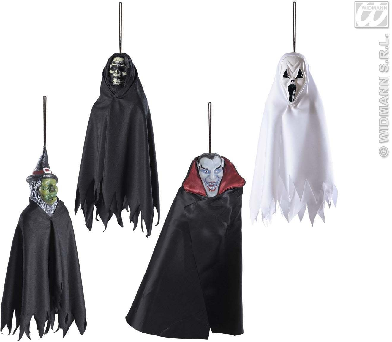 Hanging Scary Creatures 33Cm, 4 Styles Ass. Fancy Dress (Halloween)