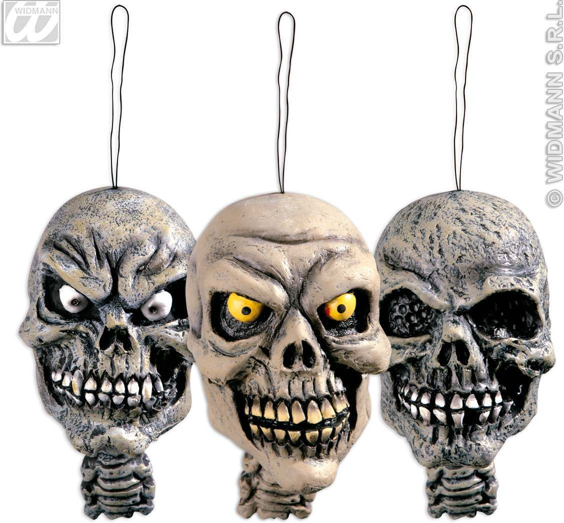 Hanging Skull 15Cm 3 Styles - Fancy Dress (Halloween)