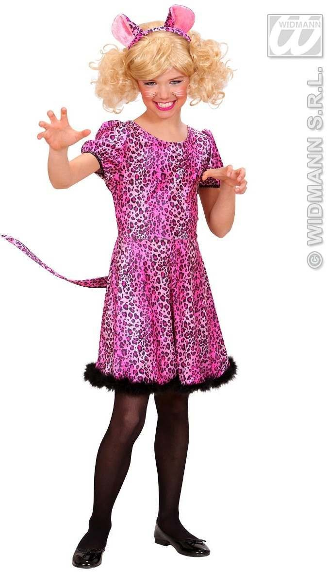 Pink Leopard Fancy Dress Costume Girls (Animals)