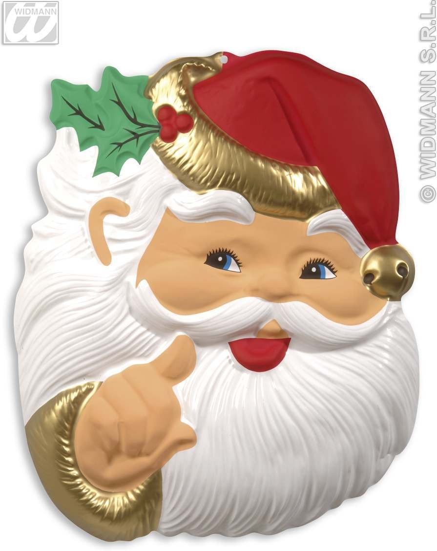 3D Santa Claus Heads 65Cm - Fancy Dress (Christmas)