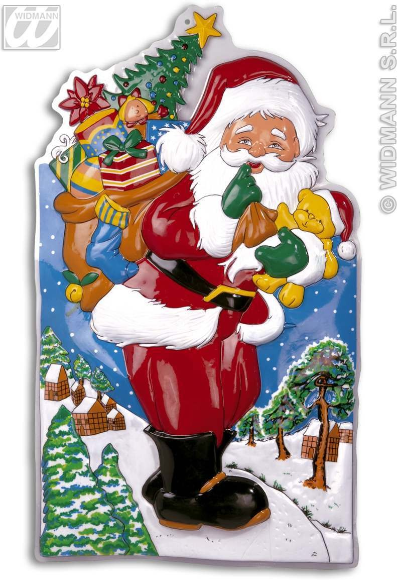 3D Santa Claus Dec W/Landscape 100Cm - Fancy Dress (Christmas)