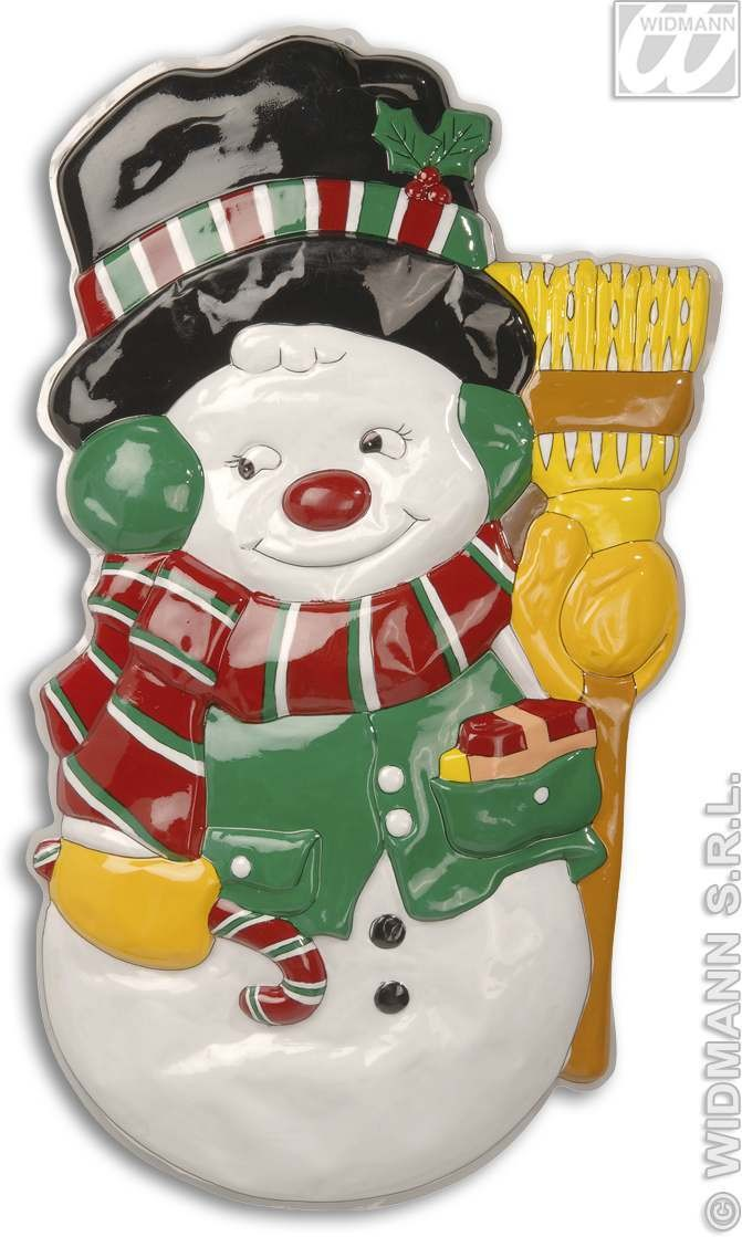 3D Snowman Decoration 100Cm - Fancy Dress (Christmas)