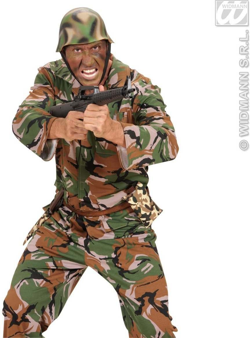 Bottle In Camouflage Bag - Fancy Dress (Army)
