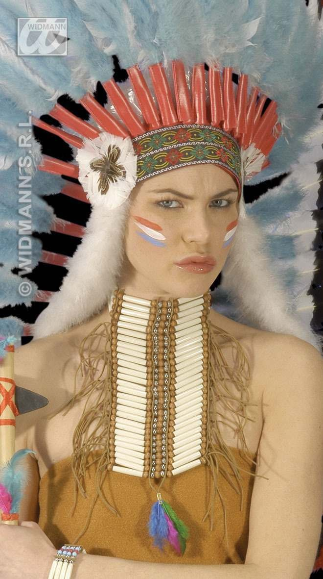 Native Indian Warrior Breastplatechoker - Fancy Dress (Cowboys/Indians)