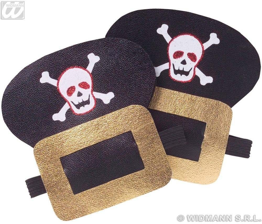 Shoe Buckles Pirate Leatherlook - Fancy Dress (Pirates)