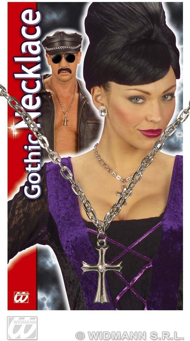 Gothic Cross Necklace - Fancy Dress (Halloween)