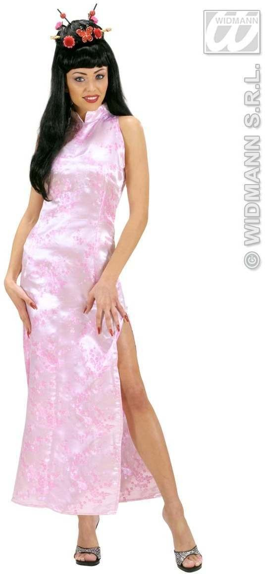 Pink China Girl Fancy Dress Costume Ladies (Oriental)