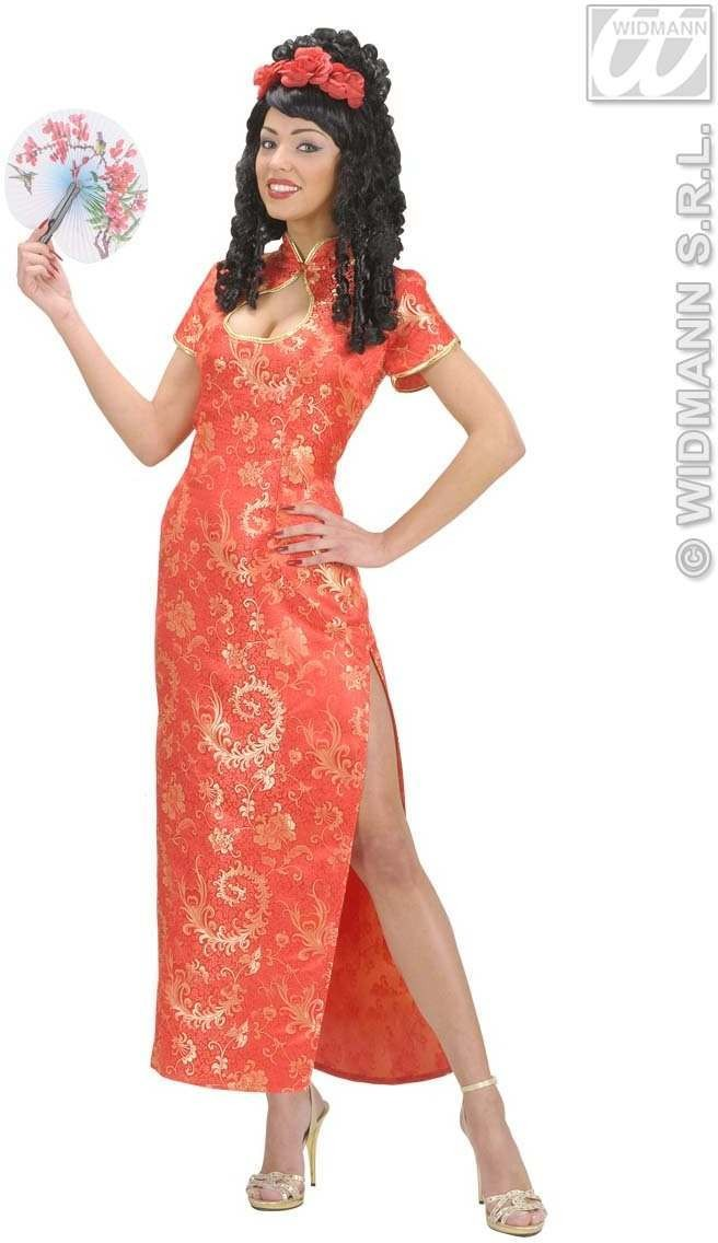 Red China Girl Fancy Dress Costume Ladies (Oriental)