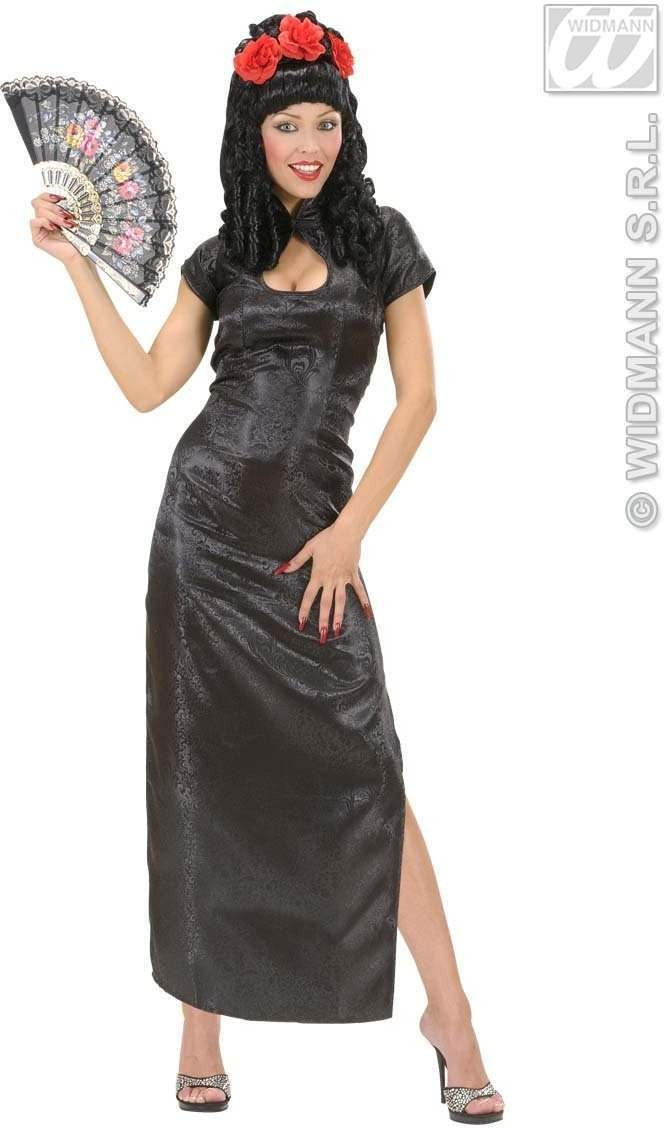 Black China Girl Fancy Dress Costume Ladies (Oriental)