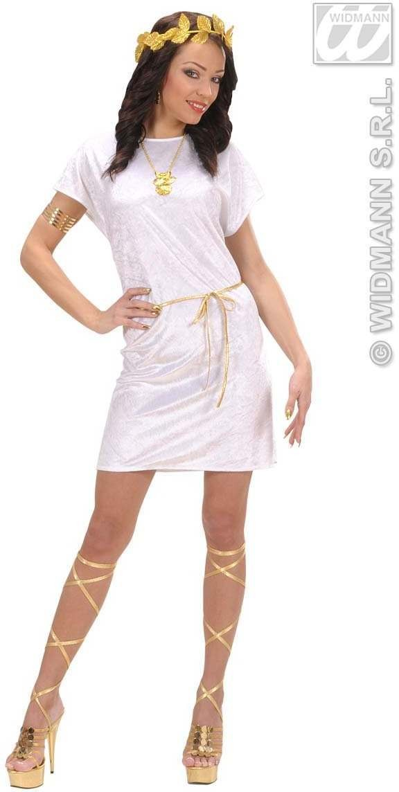 White Tunic Fancy Dress Costume Mens (Roman)
